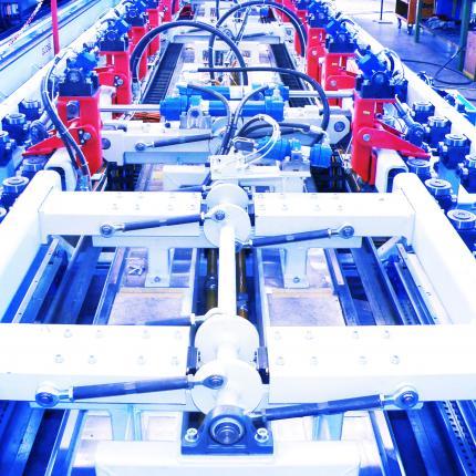 Die IAG Fertigungslinie für Stahlprofile